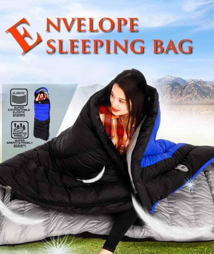 ultralight camping sleeping bag image
