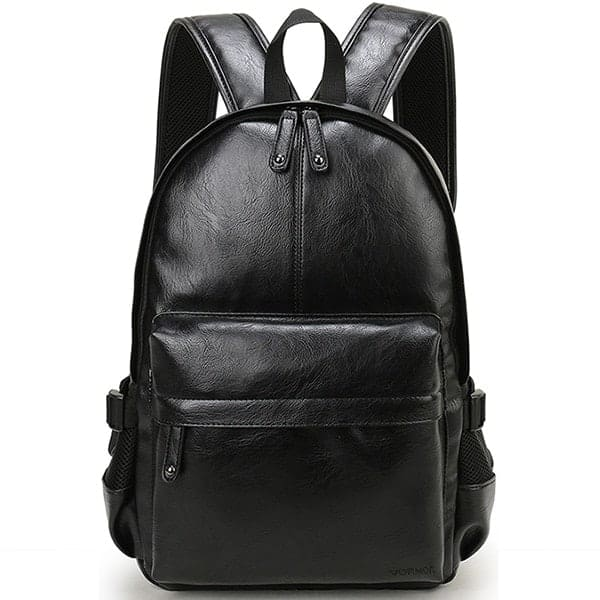 leather backpack product image