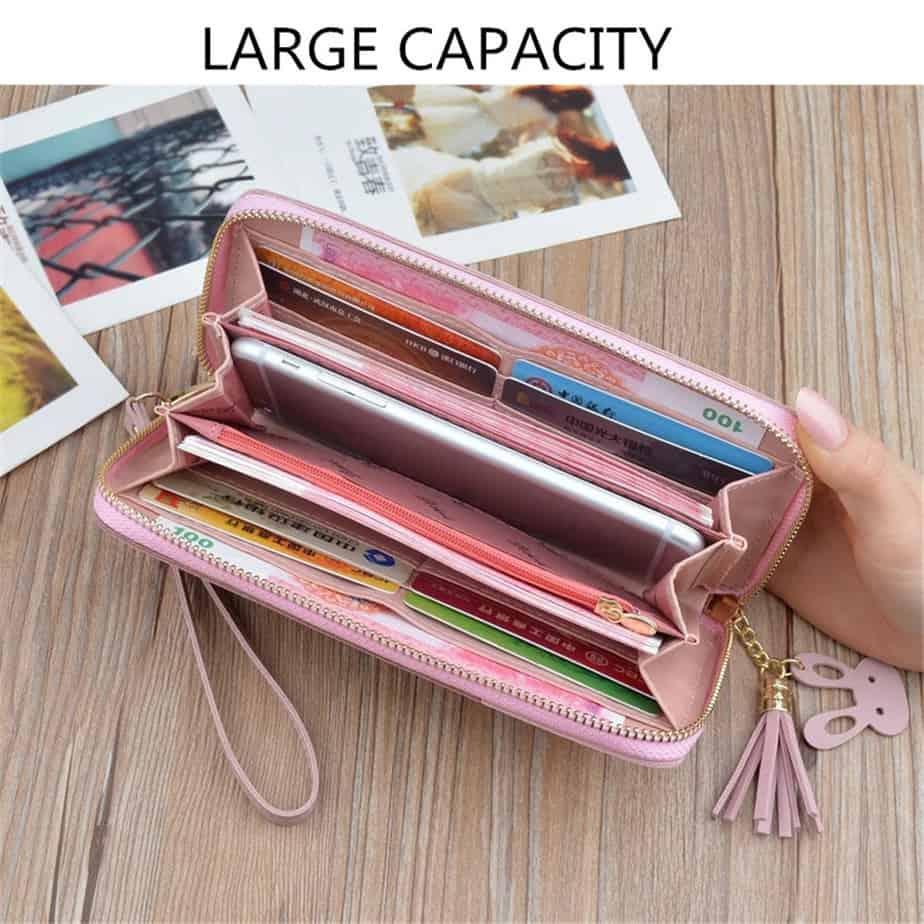 long zipper coin purse